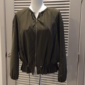 Zara Army Green Zip Up Jacket M